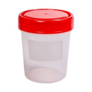 Контейнер одноразовый для сбора биоматериалов стерильный 120 мл. В упаковке
